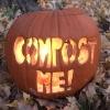 Smashing (& Composting) Pumpkins