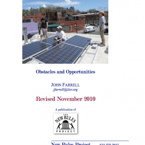 Community Solar Power: Obstacles and Opportunities