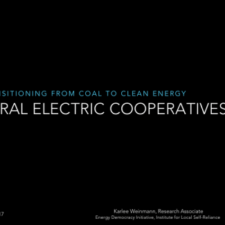Video: Transitioning Co-ops Away From Coal