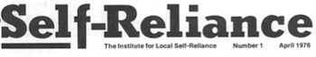 Self Reliance Newsletter Archive 1976 – 1982