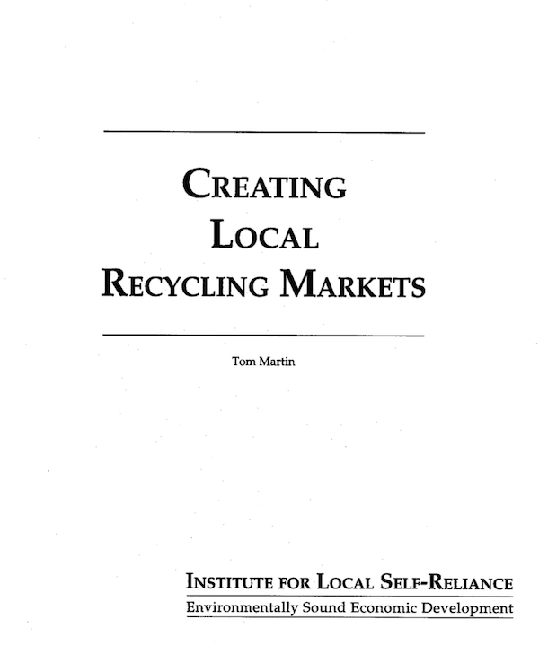 Creating Local Recycling Markets