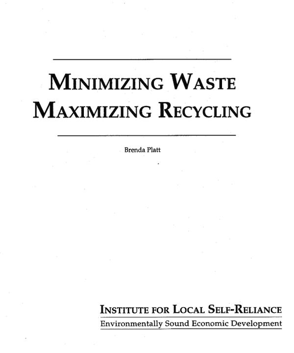 Minimizing Waste, Maximizing Recycling