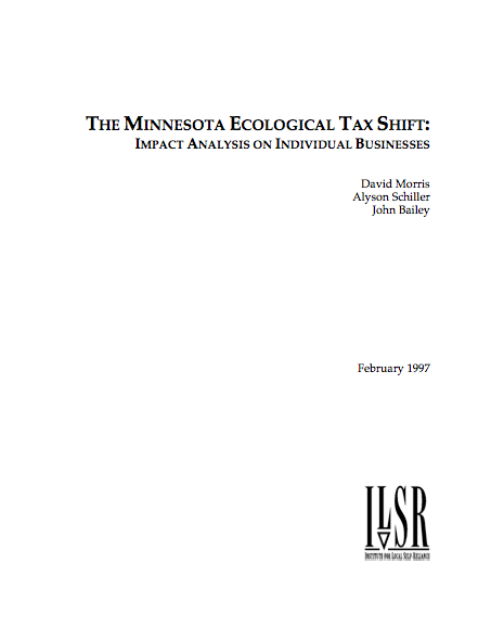Report: The Minnesota Ecological Tax Shift: Impact Analysis on Individual Businesses