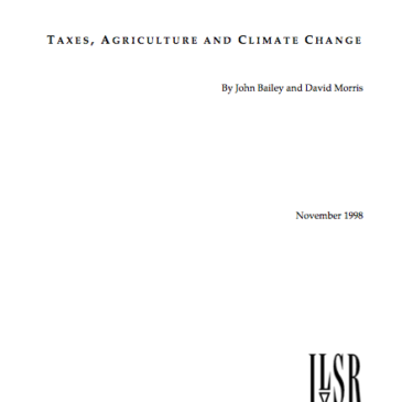 Report: Taxes, Agriculture, and Climate Change