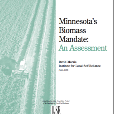 Report: MN Biomass Mandate Fails to Meet Original Intent