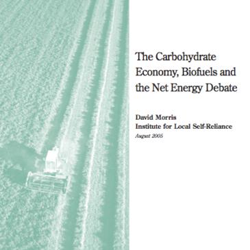 Report: The Net Energy of Ethanol Debate Must End