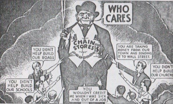 1930s anti-chain cartoon