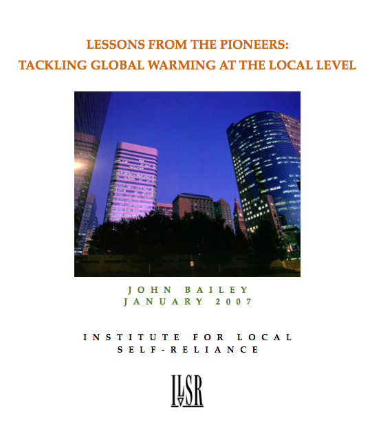 Report: Lessons from the Pioneers – Tackling Global Warming at the Local Level