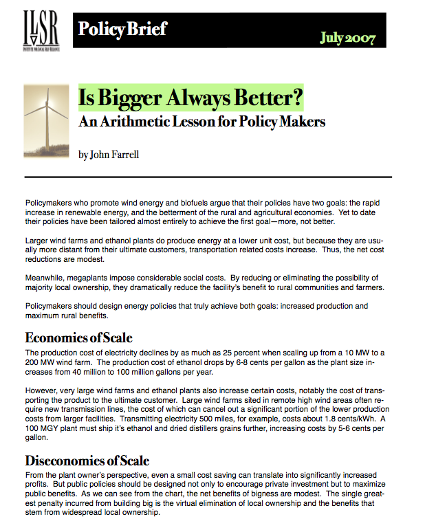 Report: Is Bigger Always Better? An Arithmetic Lesson for Policy Makers