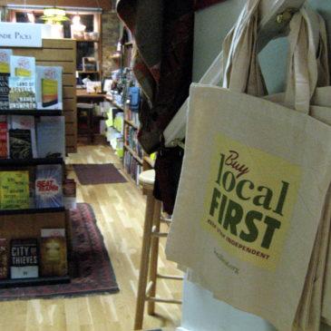 Local First Utah - logo in bookstore