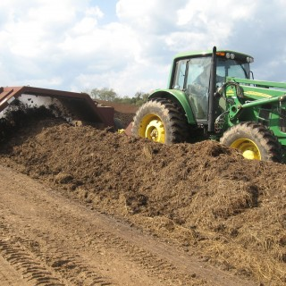 Compost Tractor and windrow