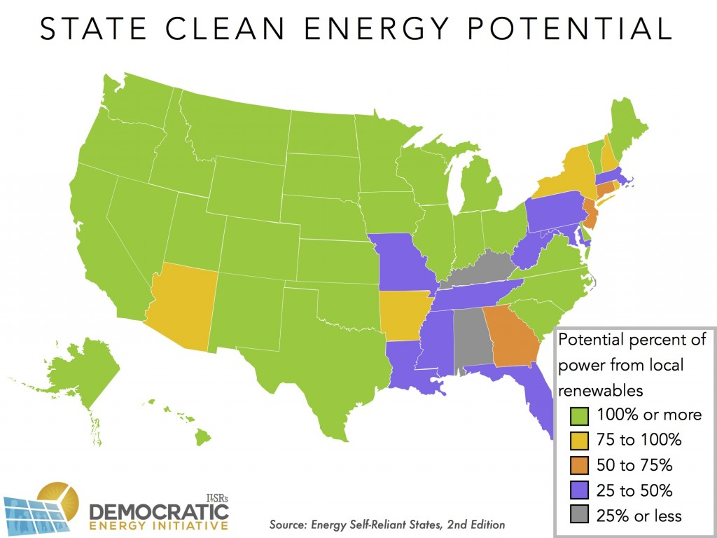 state clean energy potential ESRS ILSR