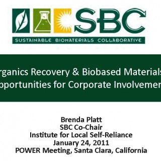 Cover Organics Recovery & Biobased Materials: Opportunities for Corporate Involvement