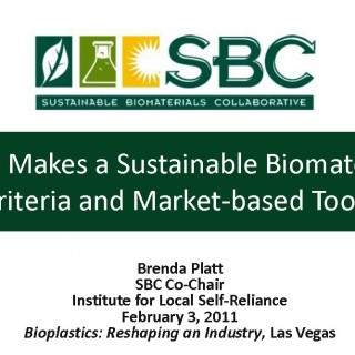 Cover What Makes a Sustainable Biomaterial?