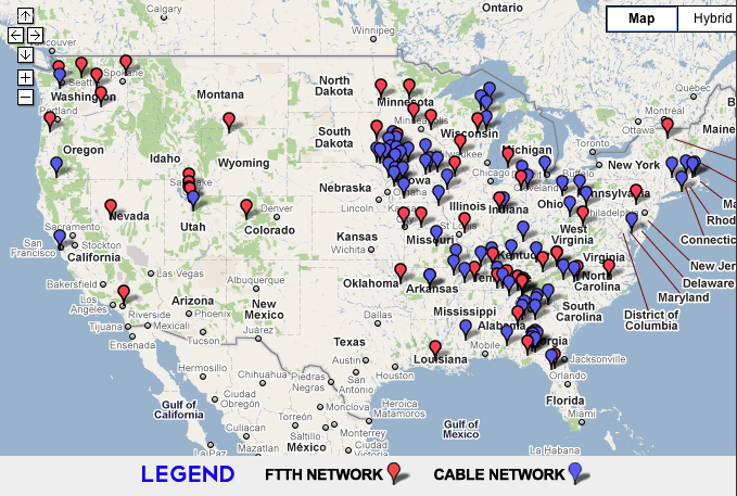 New Map Of Publicly Owned Broadband Shows Impressive Coverage - Us fiber optic map