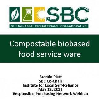 Cover Compostable biobased food service ware