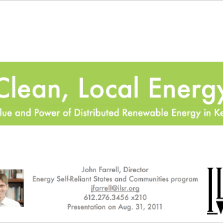 Clean Local Energy for Kentucky