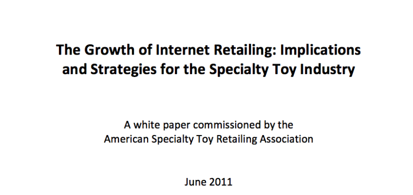 The Growth of Internet Retailing: Implications and Strategies for the Specialty Toy Industry