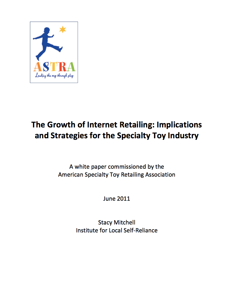 The Growth of Internet Retailing Implications and Strategies for – Business Report Cover Page