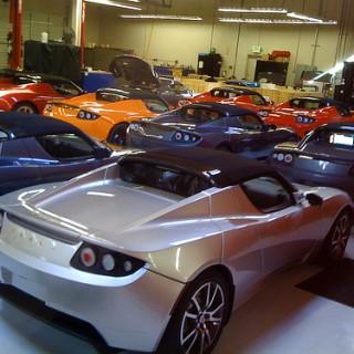 Cars at Tesla Dealership