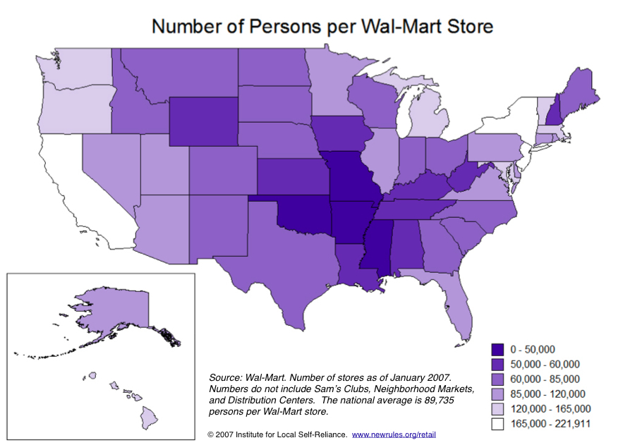 Walmart Store Density