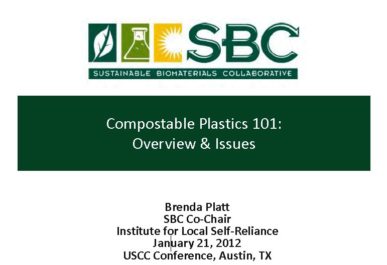 Compostable Plastics 101: Overview & Issues