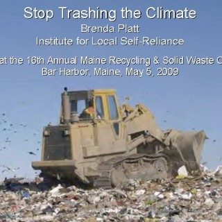 Cover Stop Trashing the Climate 050509