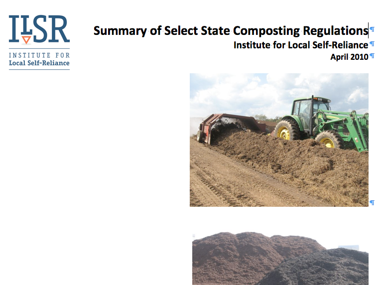 Report on Model State Composting Policies