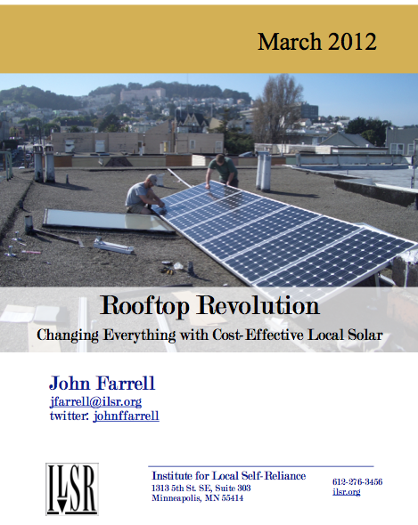 New Report: Rooftop Revolution Changes Everything with Cost-Effective Local Solar