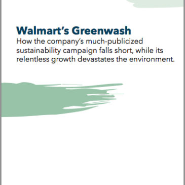 New Report: Walmart's Greenwash
