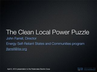 PEC texas local energy jff ILSR