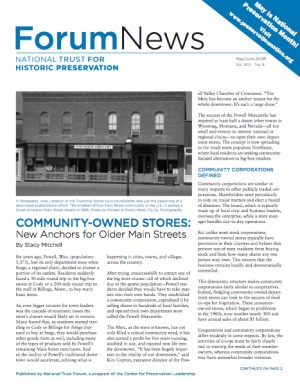 Community-Owned Stores: New Anchors for Older Main Streets