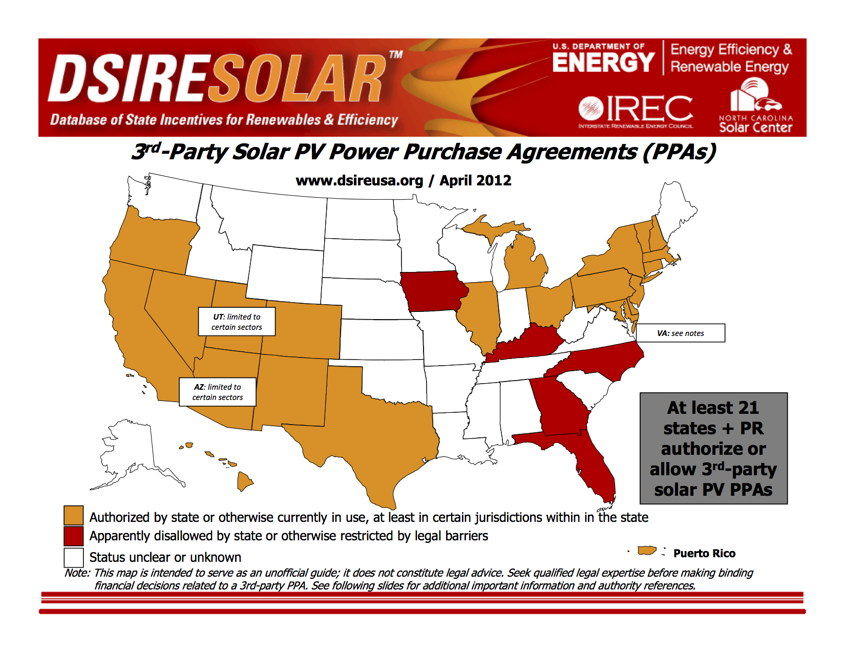 Map Of State 3rd Party Ppa Rules Institute For Local Self Reliance