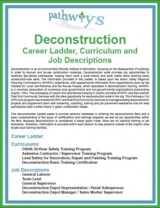 Deconstruction career ladder cover