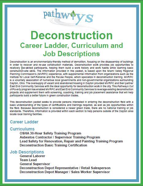 Deconstruction: Career Ladder, Curriculum and Job Descriptions