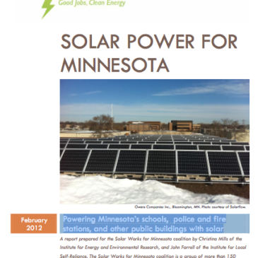 Report: Solar Power for Minnesota