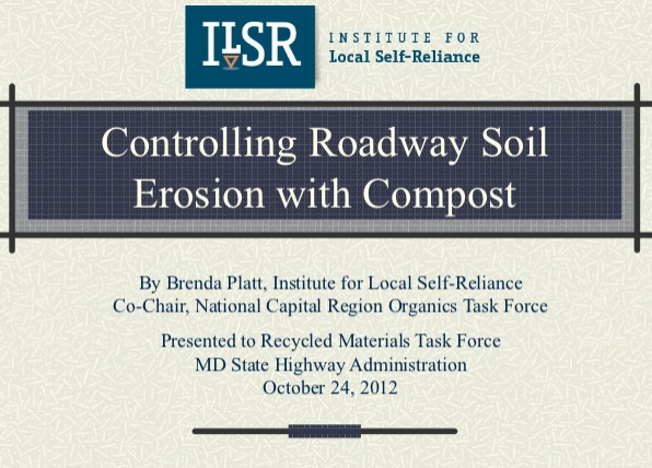 Controlling Roadway Soil Erosion with Compost