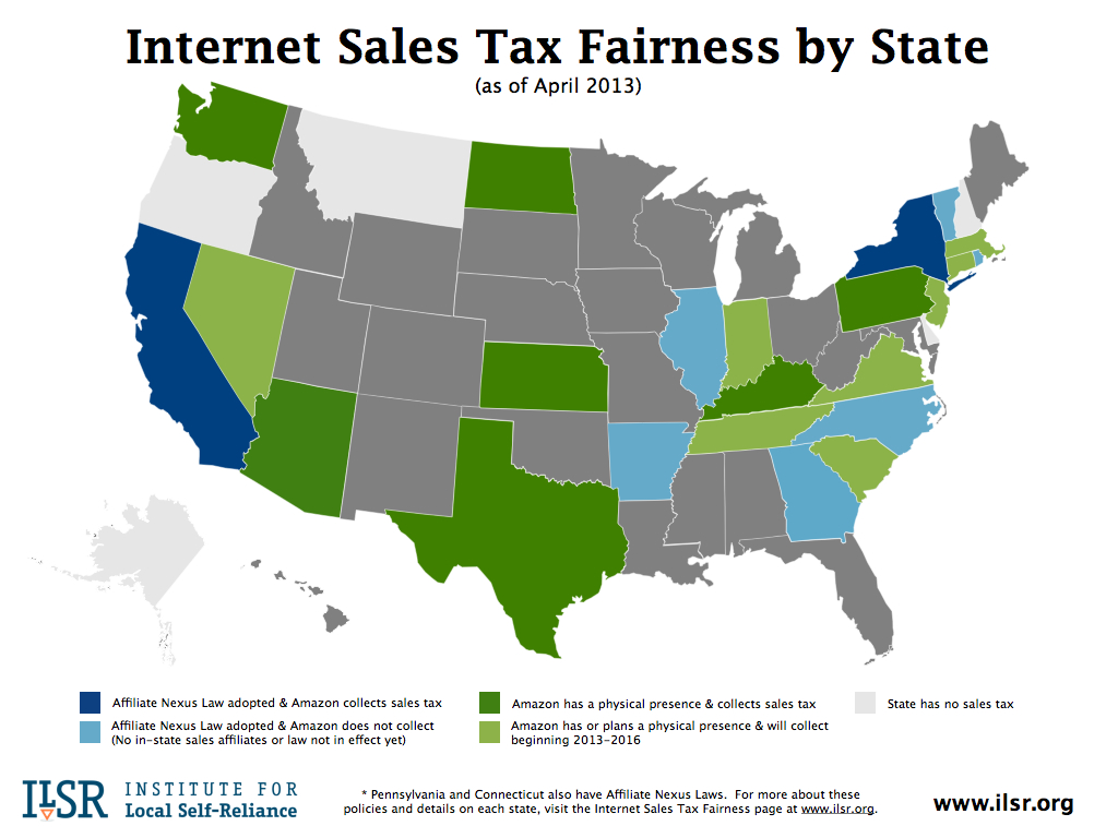 Map: Sales Tax Fairness By State