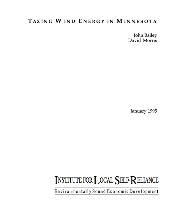 Taxing Wind Energy in Minnesota