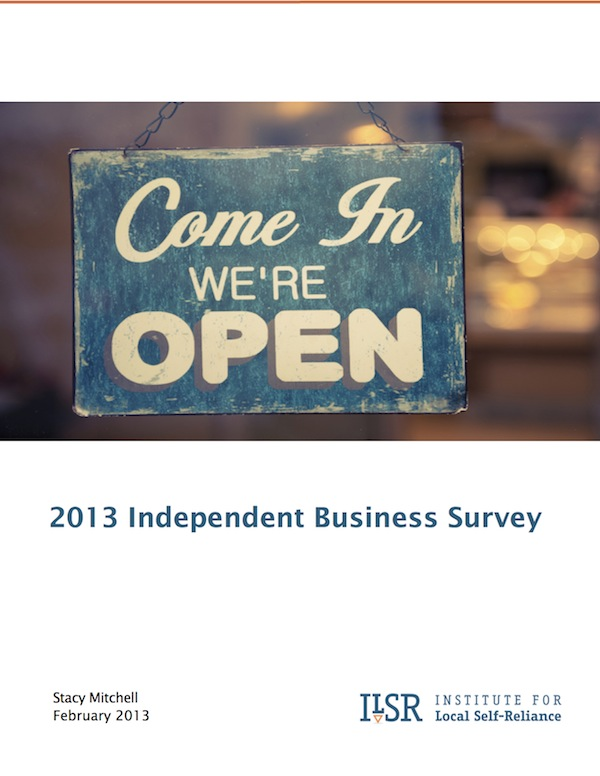 2013 Independent Business Survey Cover Image