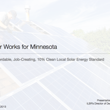 A Local Solar Energy Standard for Minnesota