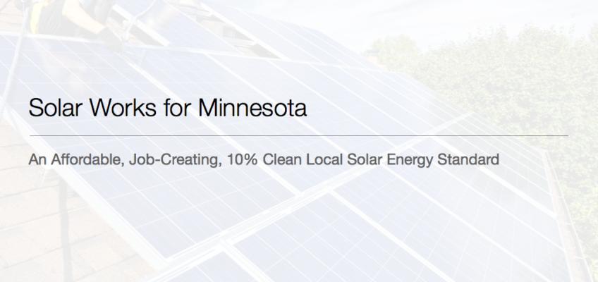 A Local Solar Energy Standard for Minnesota