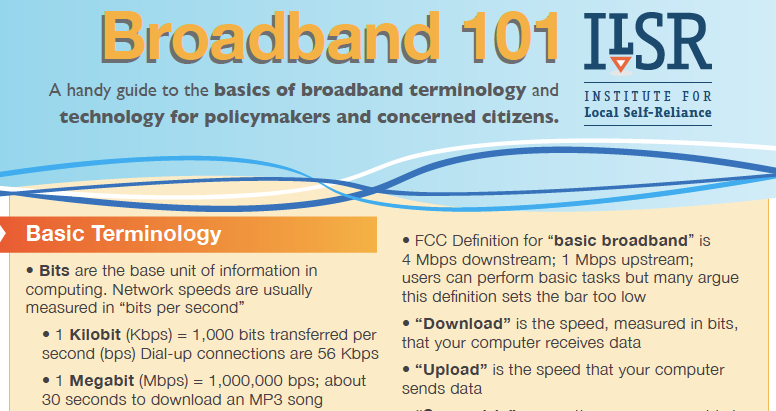 Broadband 101 Fact Sheet