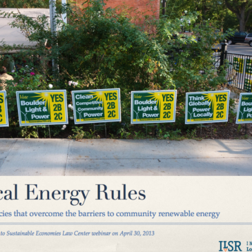 Watch: 5 Barriers To and Solutions for Community Renewable Energy