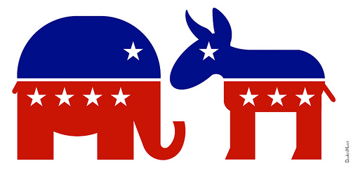 Image result for democrat and republican