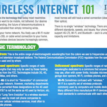 Wireless Internet 101 Fact Sheet