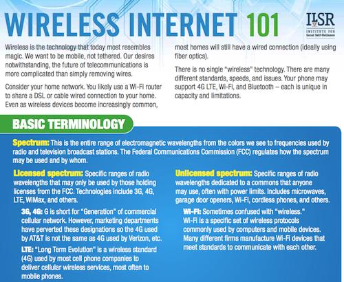 Wireless Internet 101 Fact Sheet