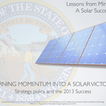Lessons from Minnesota – a Solar Success (Presentation)