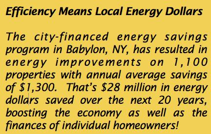 energy efficiency means local dollars