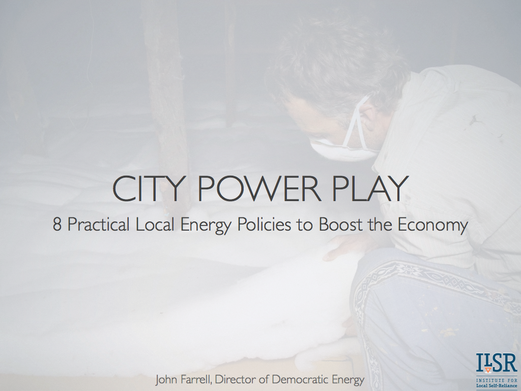 Report City Power Play 8 Practical Local Energy